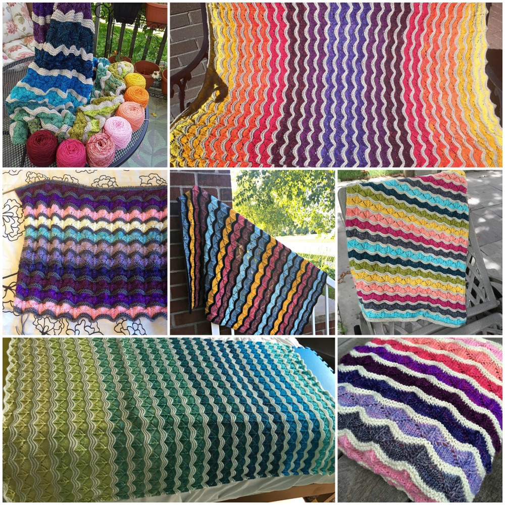 Bounce Blankets: fullywoolyprims' My Big Bounce Blanket , DrSabrina's Sunrise blanket , sls8201's Bounce Blanket , YarnAndYarns' Bounce , sierpinski's Bounce blanket , mom2x2's Bounce , aneshkah's Bounce .