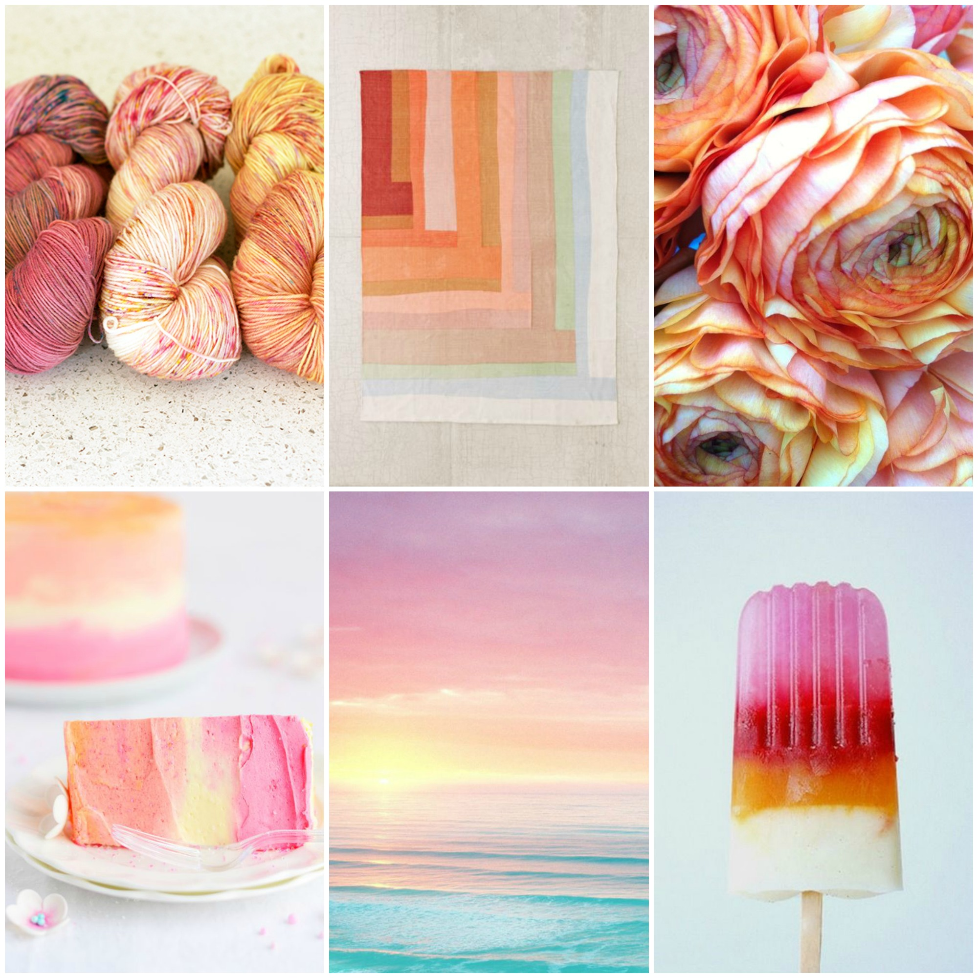 TFA PureWash Fingering in Paisley, Miso & Mimosa, patchwork rug , flowers , cake ,  sunset , popsicle ,