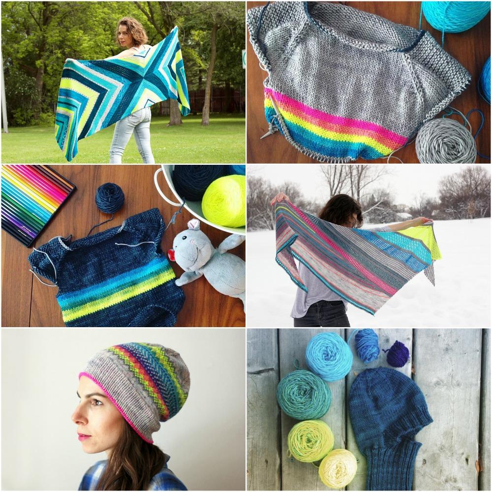 Starting Point ,  Rainbow Bright Flax ,  Signature Flax , Take It All ,  Neon Luminosity ,  Blue Dragon Hat .