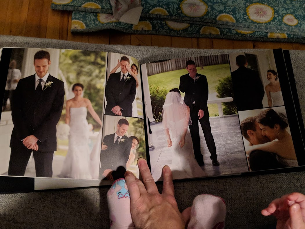 """My brother is getting married at the end of the month and he asked me to send him a photo of the """"reveal"""" from our wedding. I love looking at our wedding album and I loved this moment of our wedding day."""