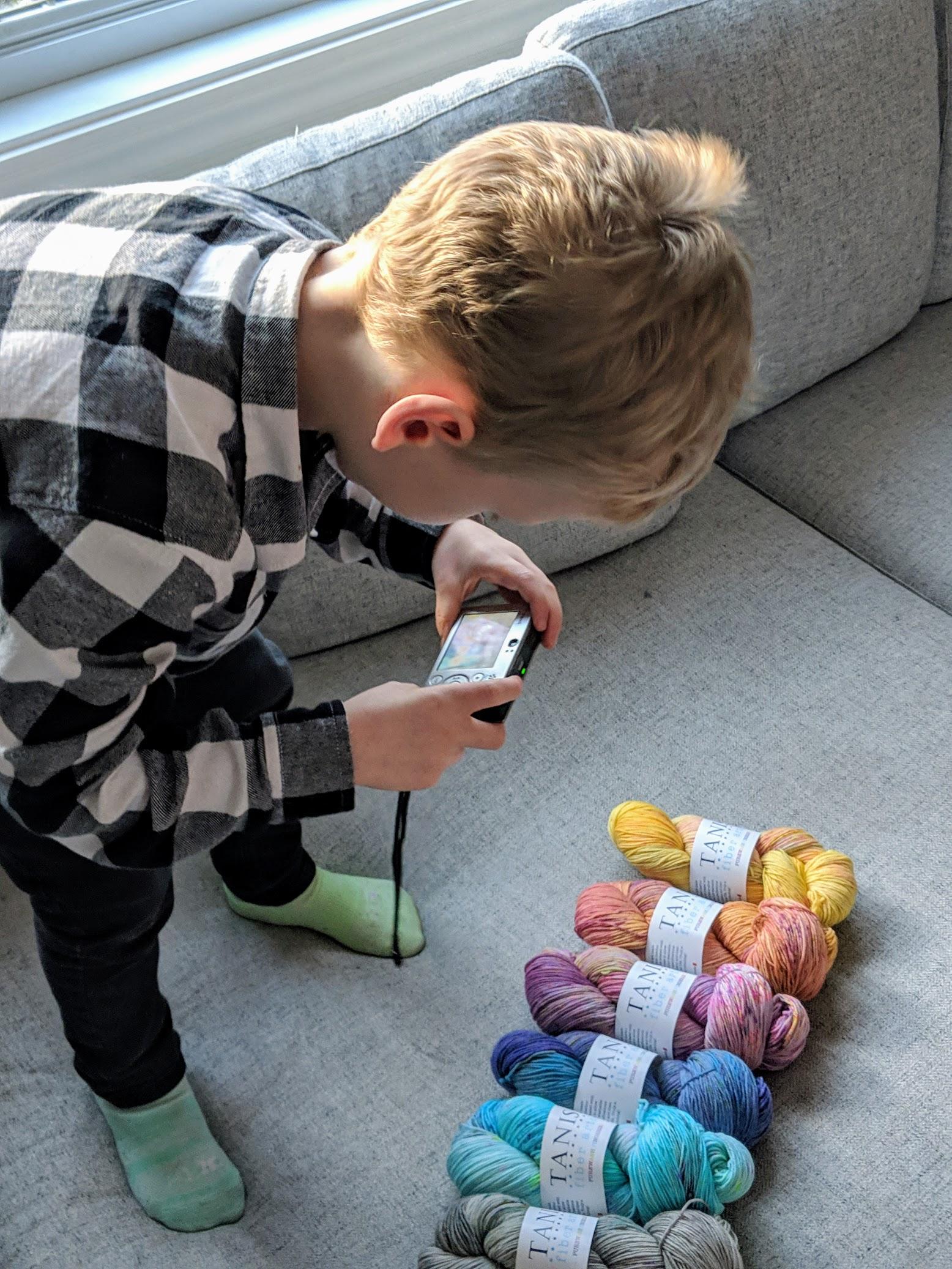 Rowan is getting into yarn photography!!!