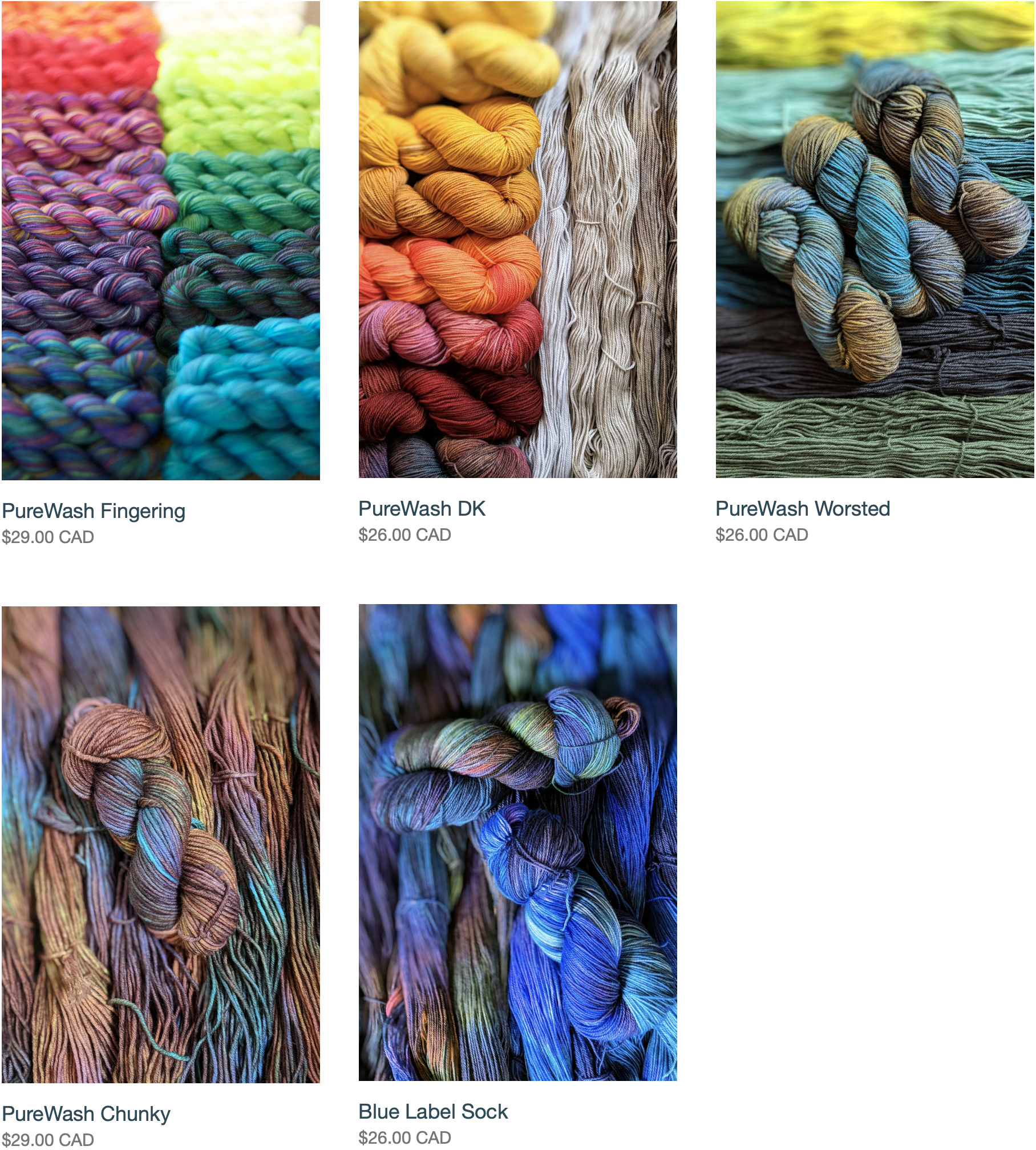 core collection yarns
