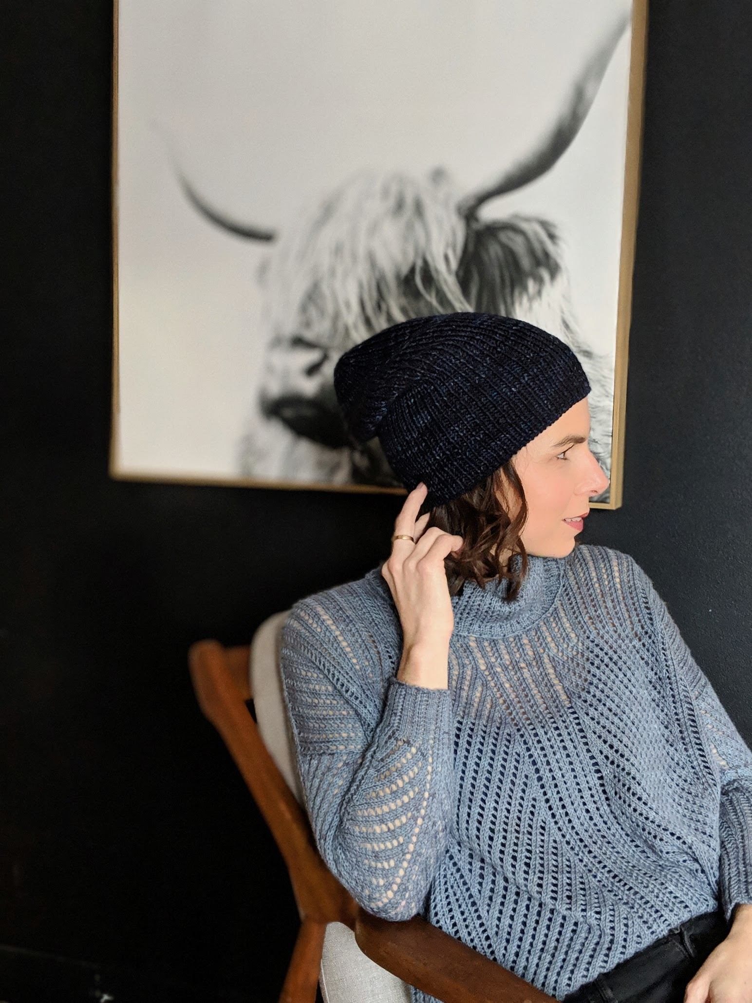 Did I ever tell you that I knit  this hat ?