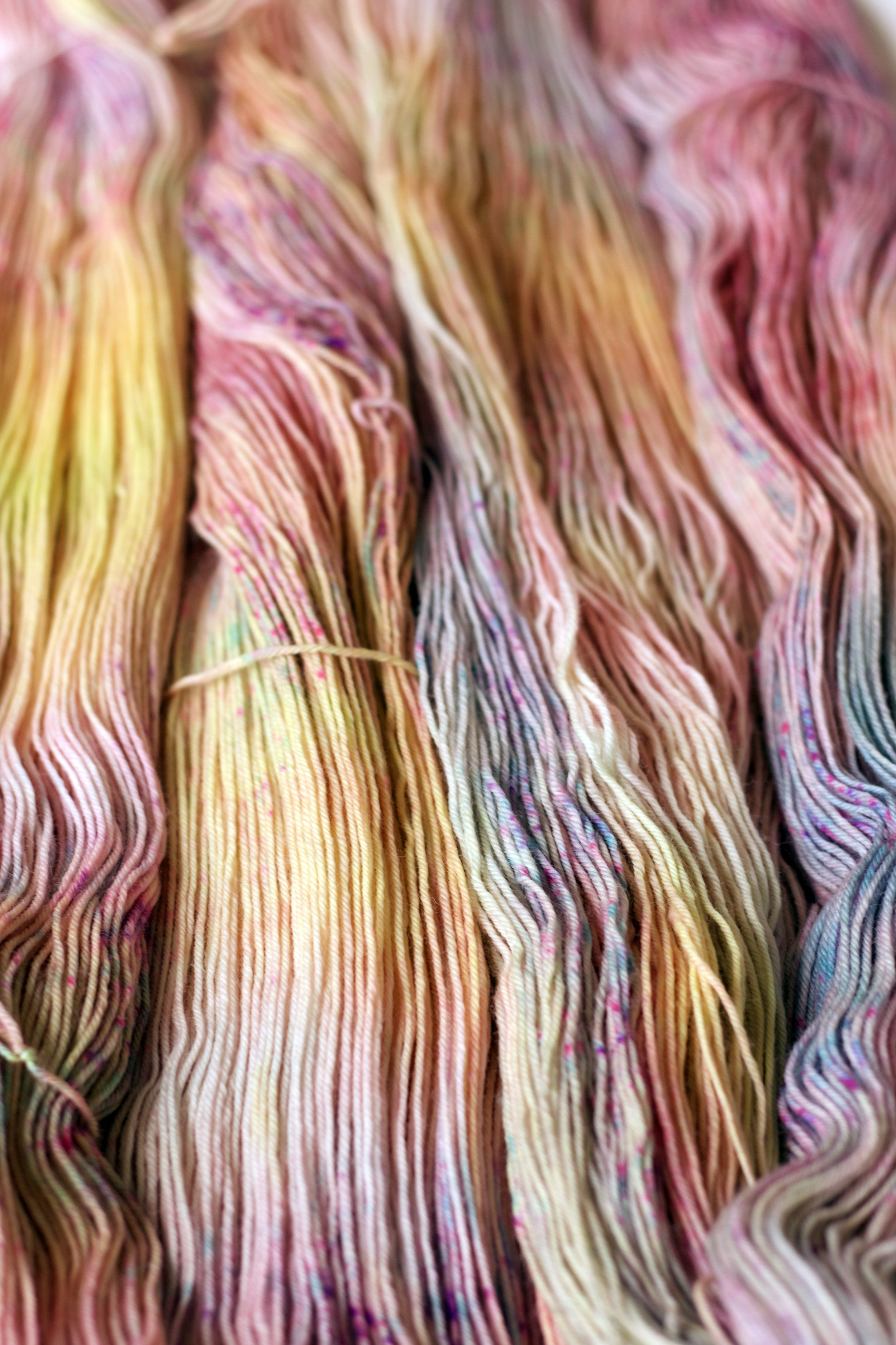 Crushing on our  Spring Fling  colourway on PureWash Fingering currently in the Pop Up Shop.