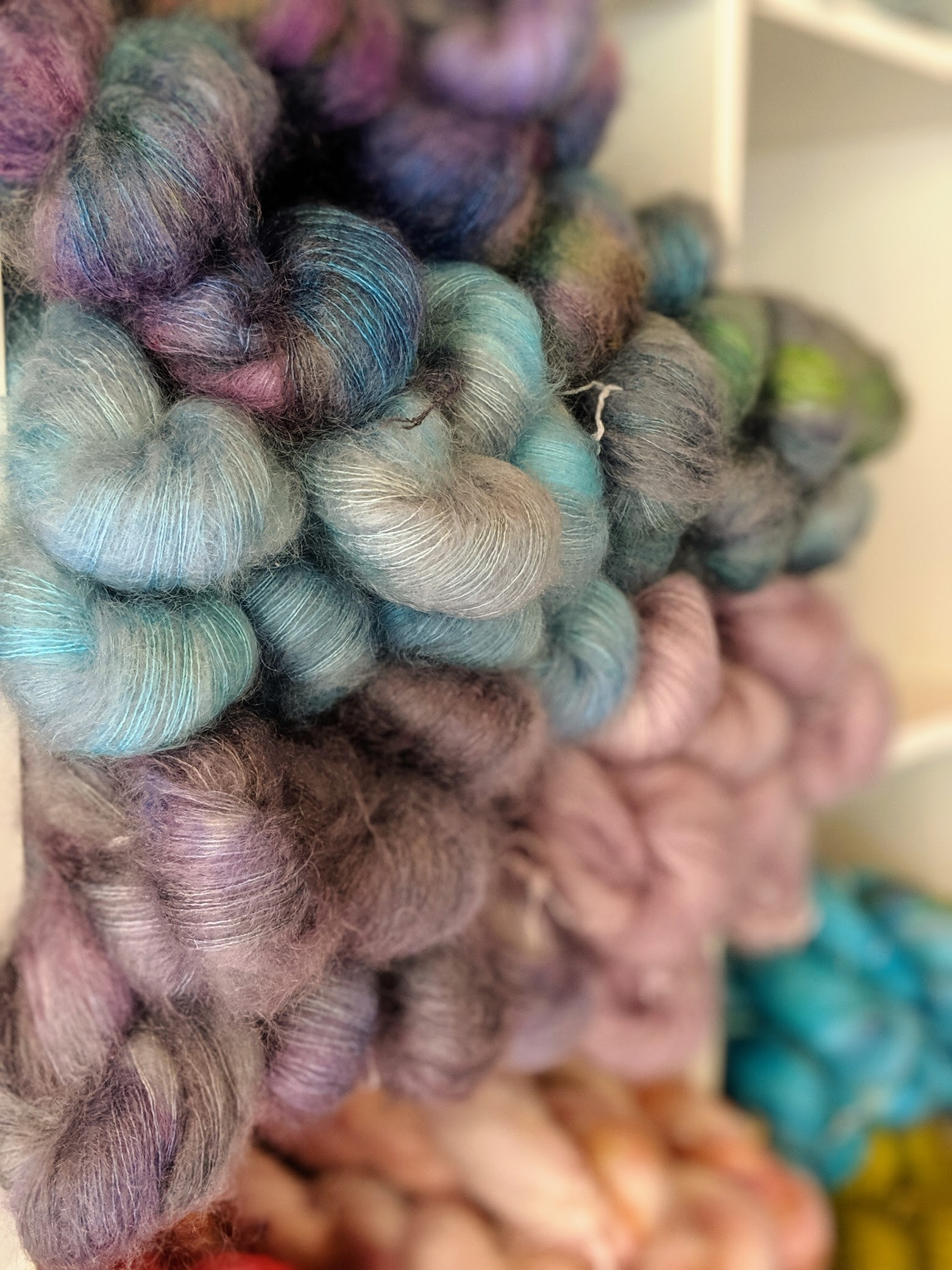 fluffy pastel mohair gorgeousness