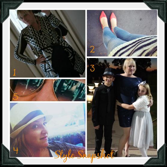 1. Urban outfitters sweater  2. ivanka trump flats, jbrand jeans, jcrew sweater  3. rent the runway sequin cocktail dress  4. #cselfie tank & fedora  5. rayban sunglasses