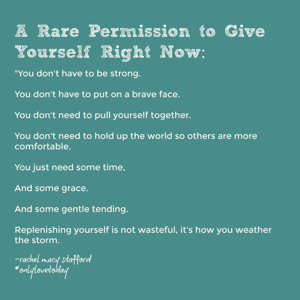 Wise words from  Rachel Macy Stafford .