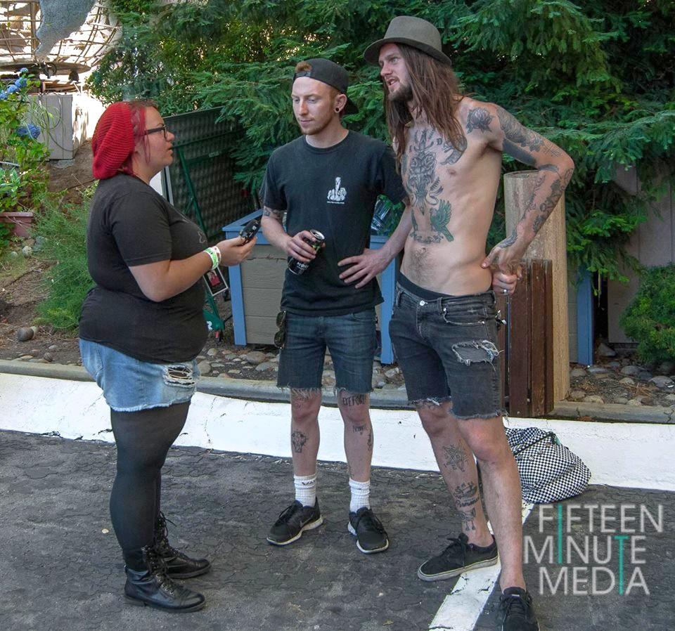 Kari Interviewing While She Sleep's