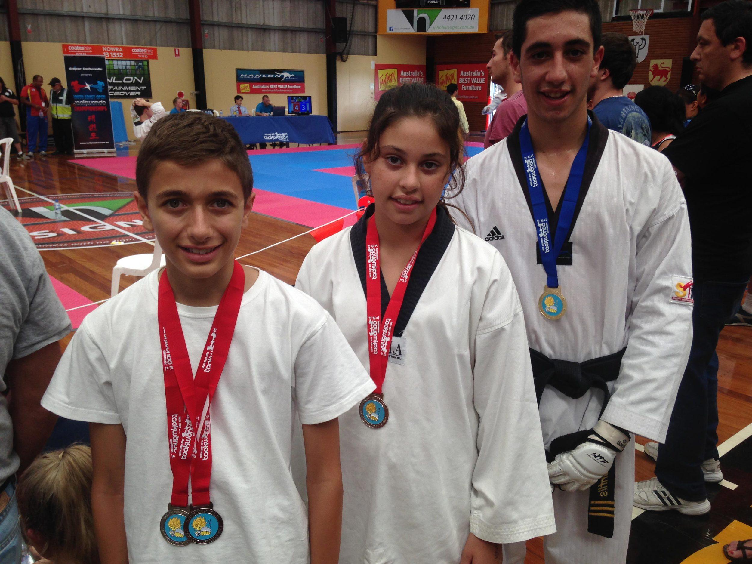 Matthew, Gabriella and Alessandro at the South Coast Championship