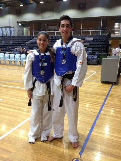 Gabriella and Alessandro after the fights