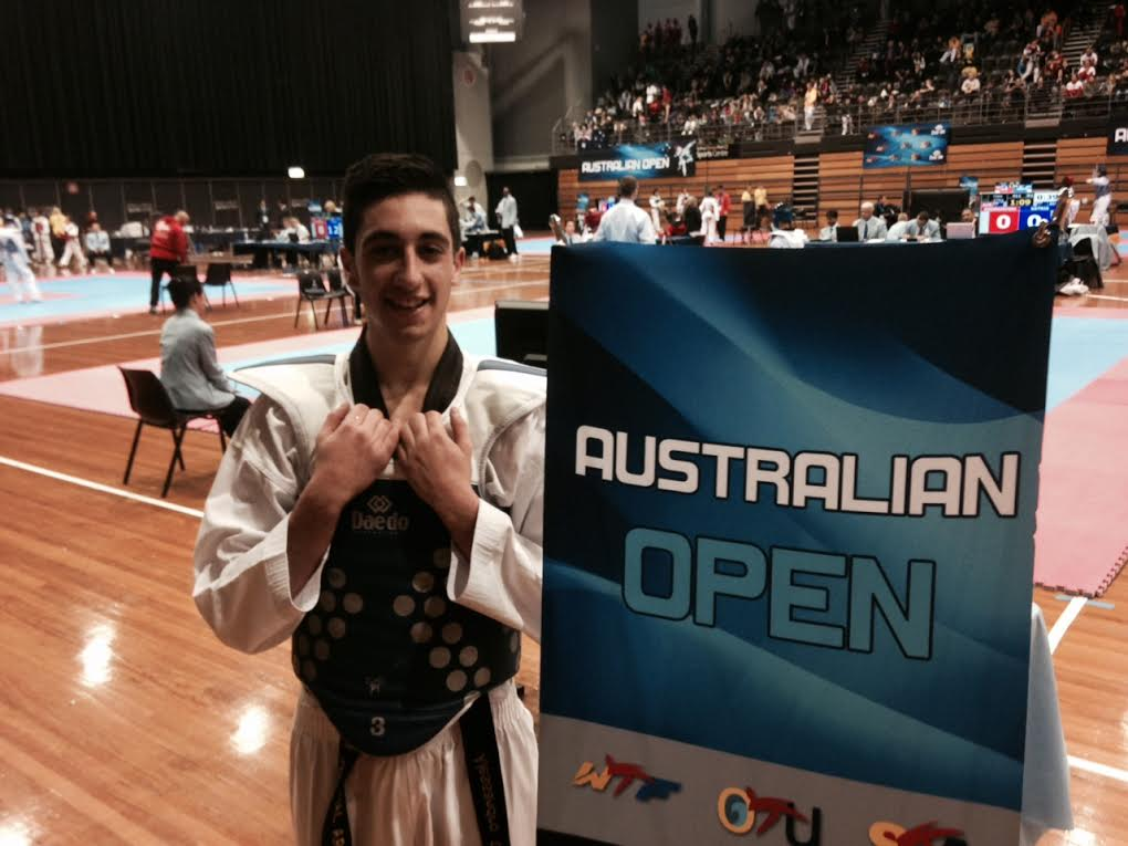 Alessandro after his fight at the Australien Open