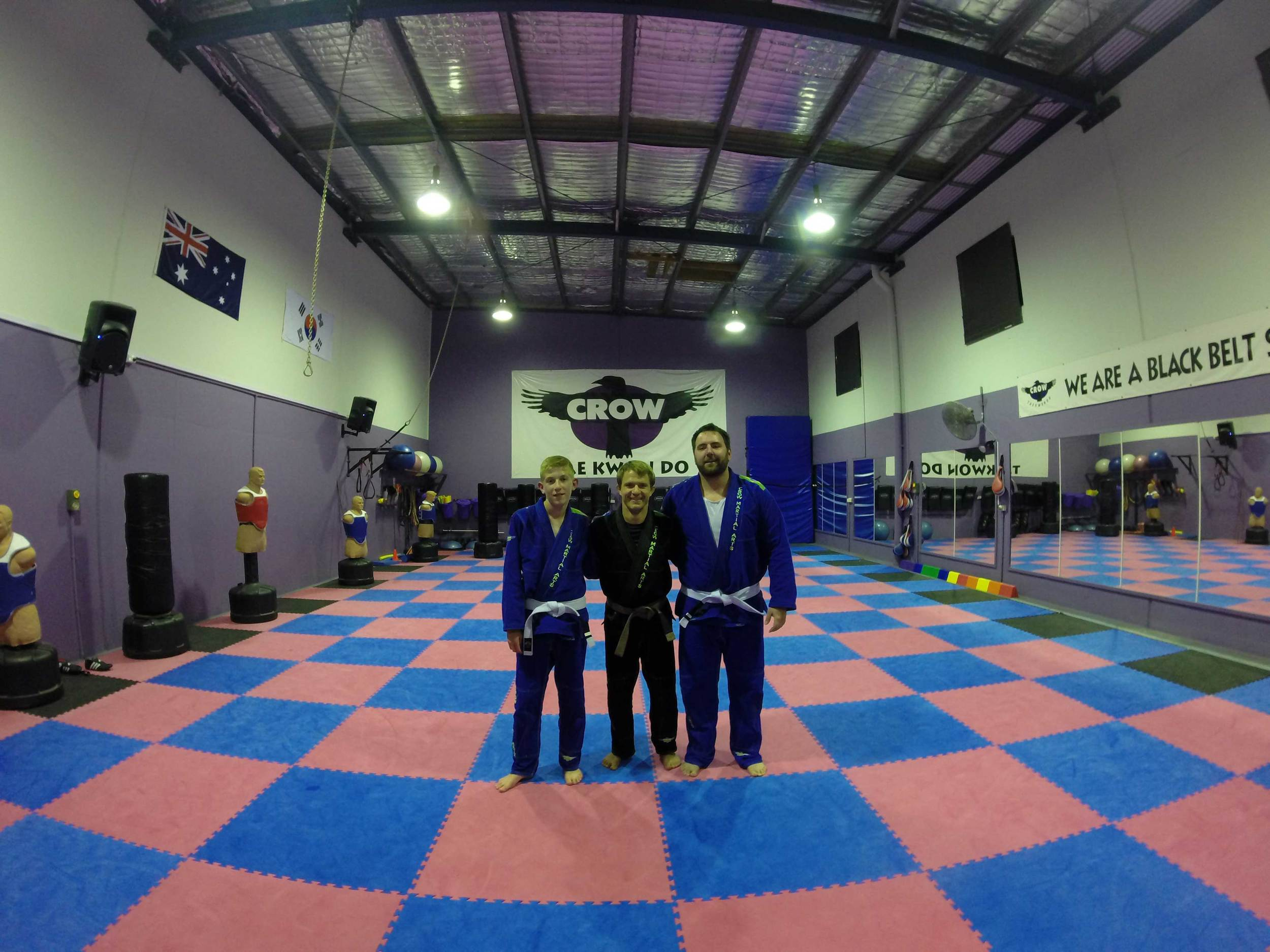 Ashton, Tim and Marko after the class