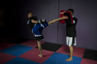 Kickboxing class for fitness
