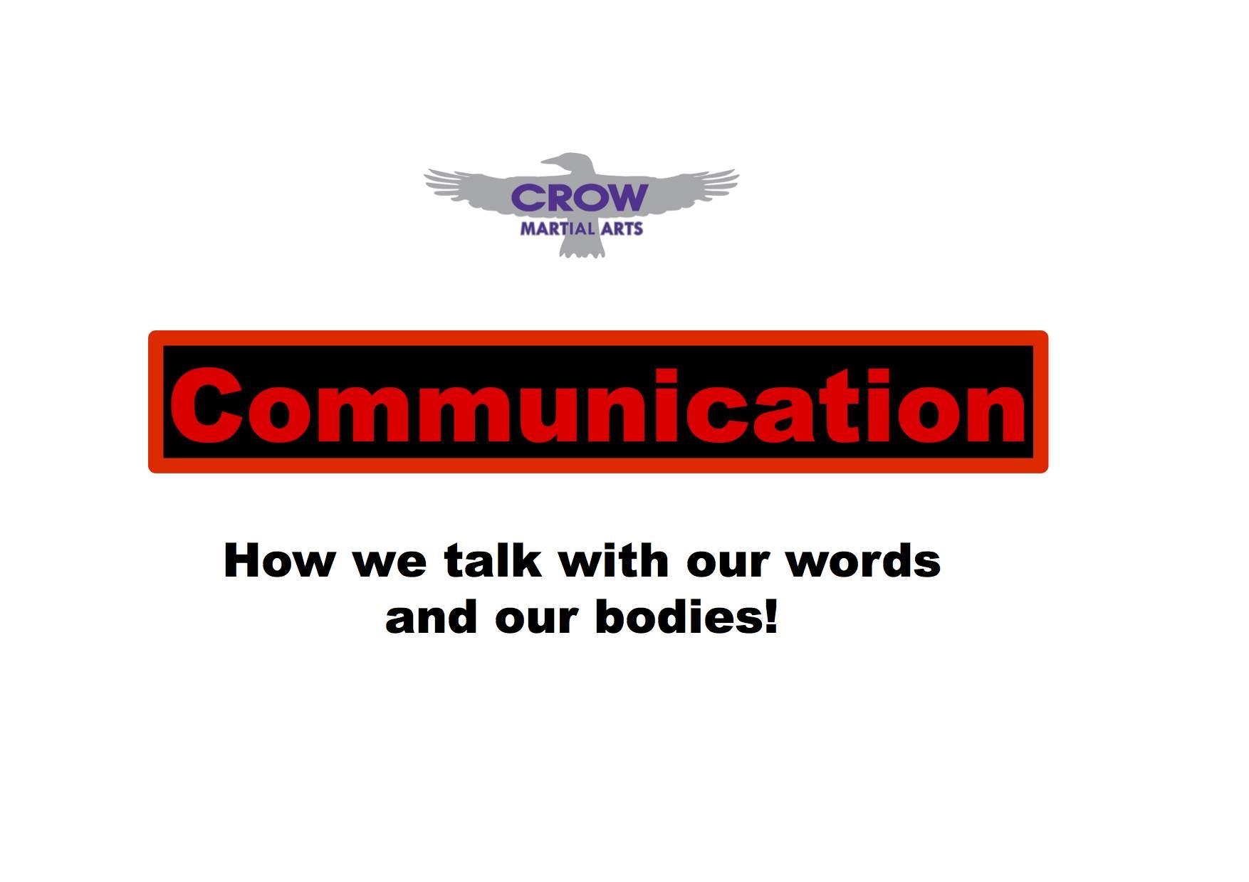 Crow Martial Arts - Life skill program
