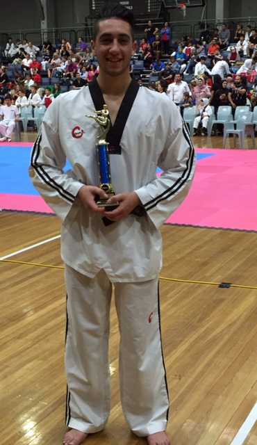 Alessandro with his ASMA trophy