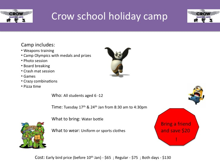 School holiday camp