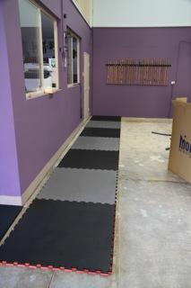 The first mat row