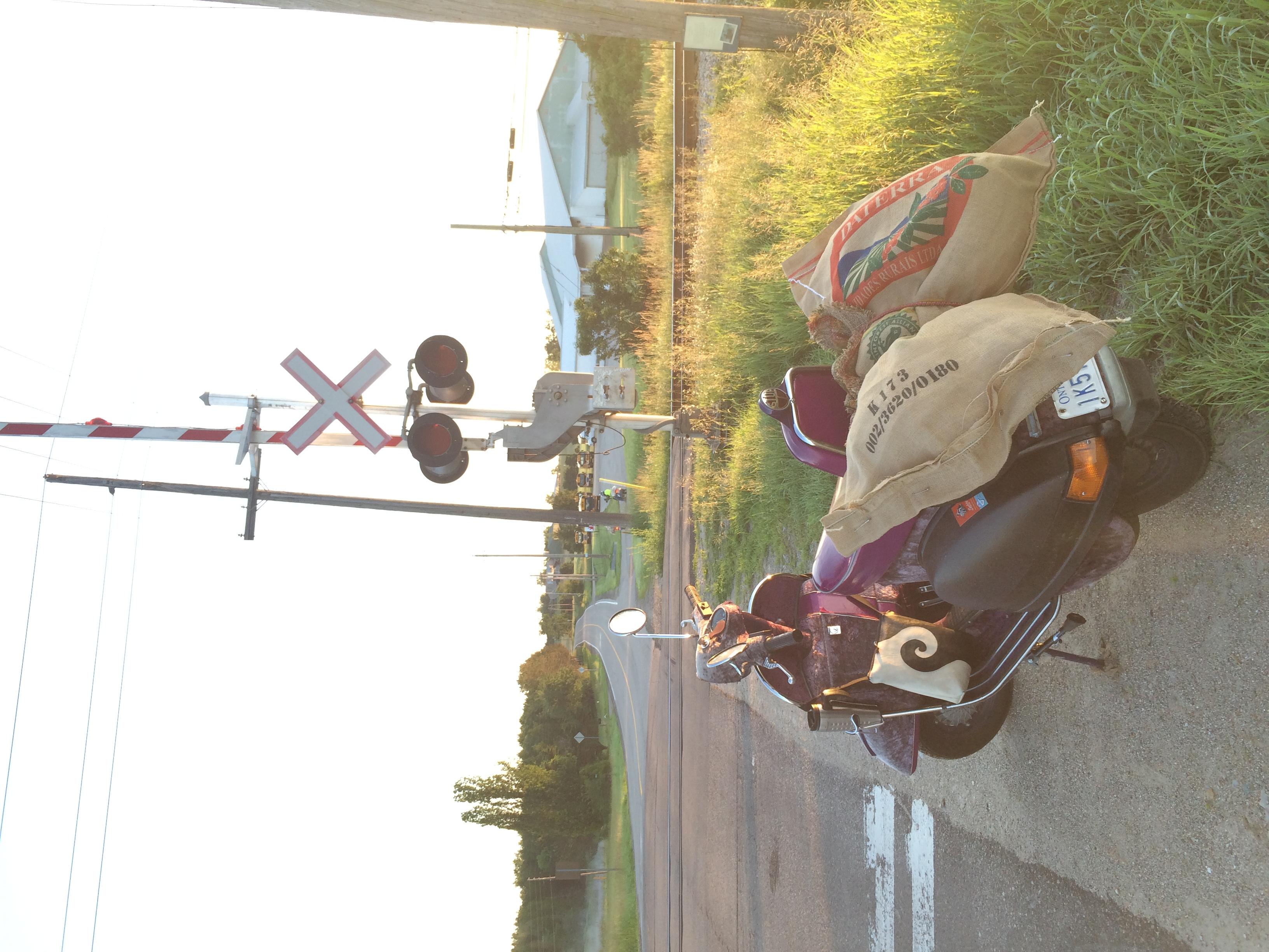 X marks the railway crossing.JPG