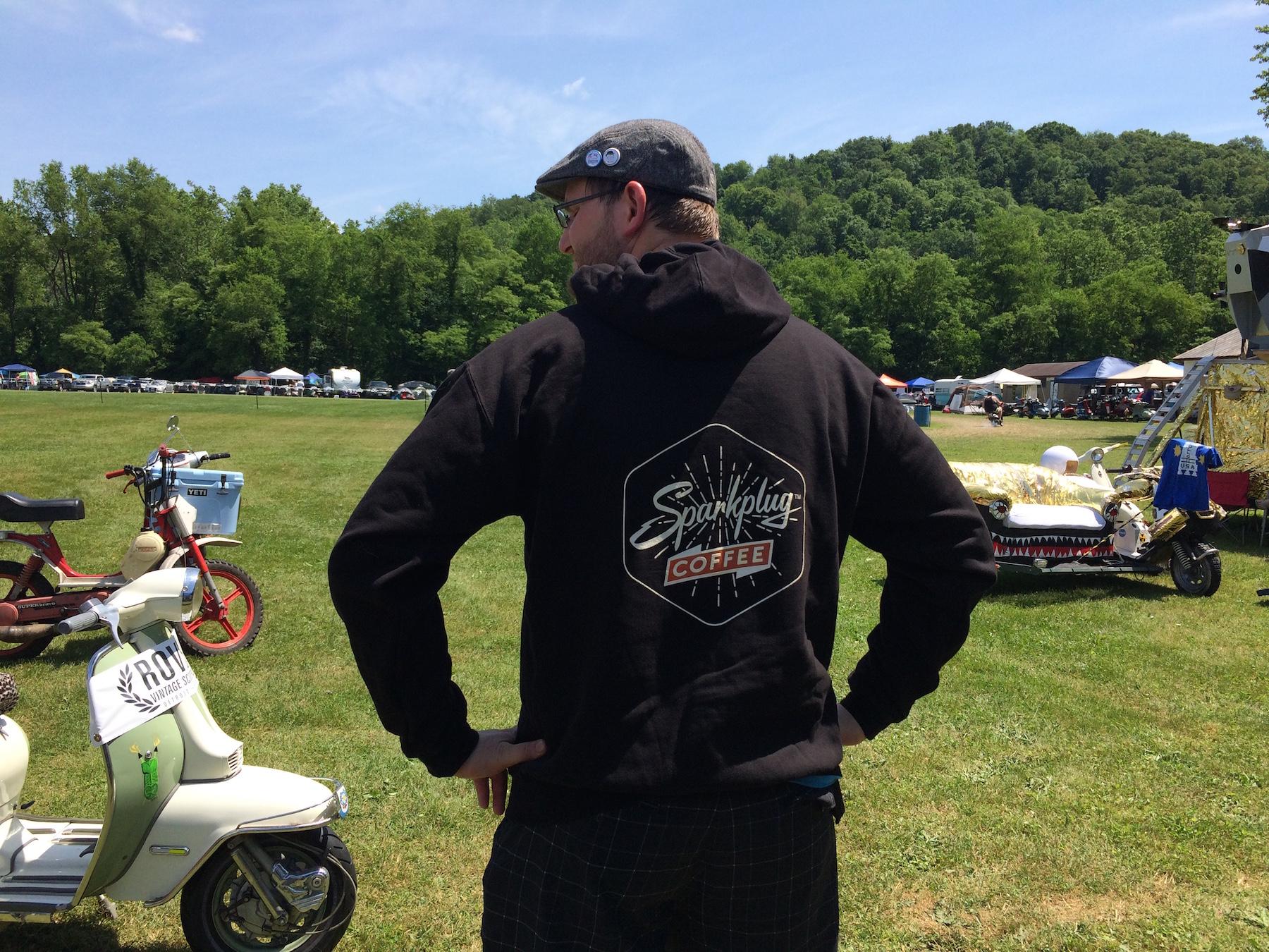 best black hoodie in the wild back space camp scooter Sparkplug Coffee.JPG