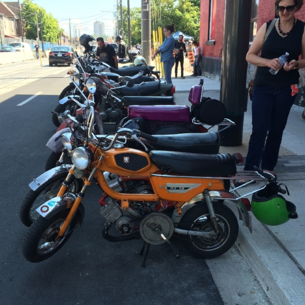Cool two stroke mopeds, Vespa scooters & vintage motos at Mods & Rockers Toronto
