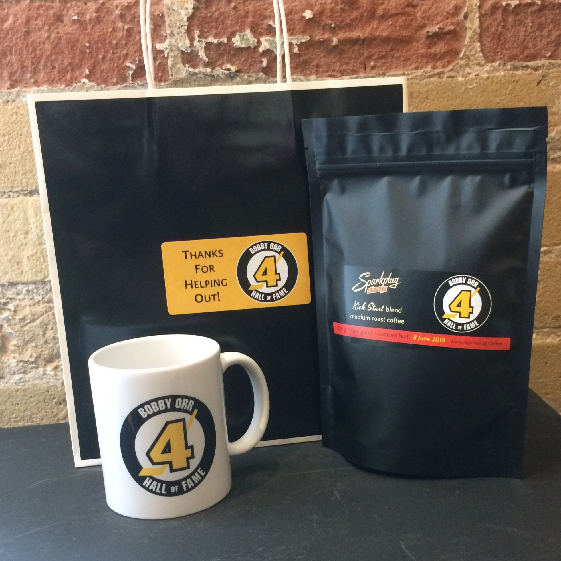 One of the fun custom gifts we delivered -   Bobby Orr Hall of Fame   custom mug and coffee.