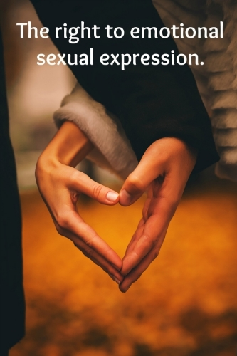 Sexual expression is more than erotic pleasure or sexual acts. Individuals have the right to express their sexuality through communication, touch, emotional expression and love.