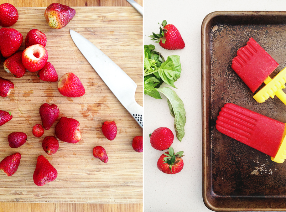 Strawberry Basil Ice Pops - www.goodonpaperdesign.com/blog