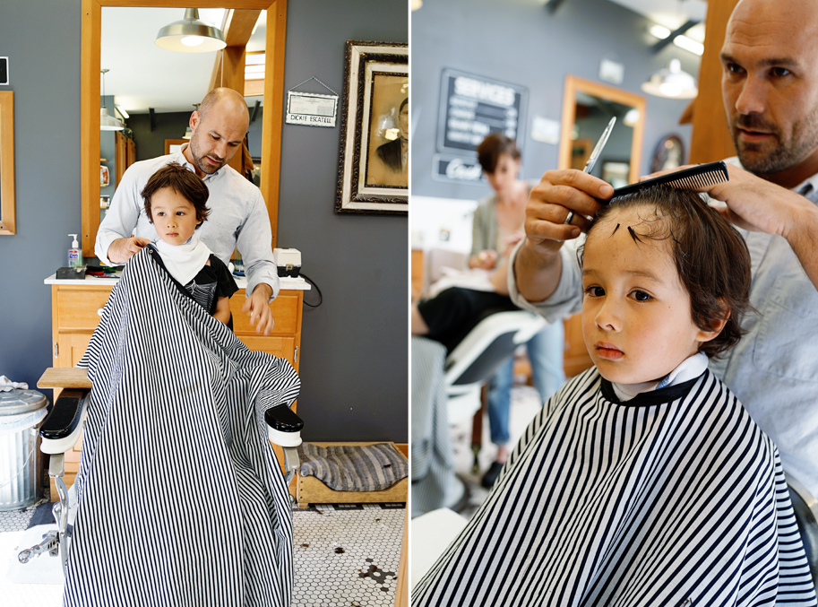 Lucas and the Temescal Barbershop - www.goodonpaperdesign.com/blog