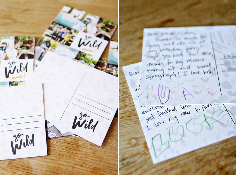 Birthday Thank You Postcards  /  www.goodonpaperdesign.com/blog  /  @good_on_paper