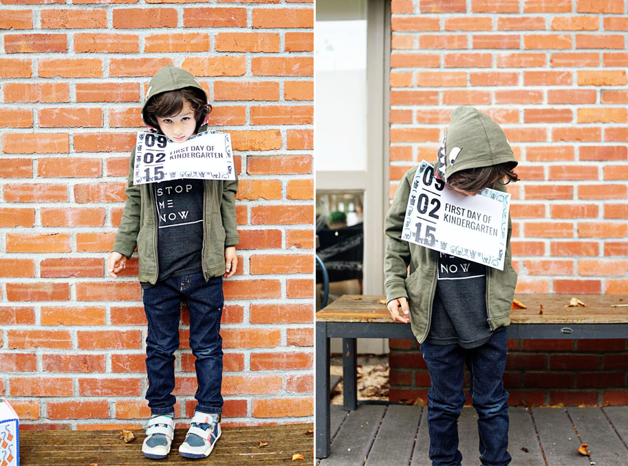 First Day of Kindergarten for Lucas  /  www.goodonpaperdesign.com/blog  /  @good_on_paper