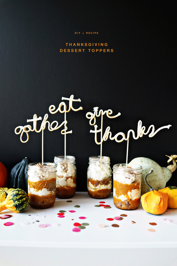 DIY + Recipe: Thanksgiving Dessert Toppers  /  http://ohhappyday.com/2015/10/thanksgiving-dessert-toppers-diy-recipe/