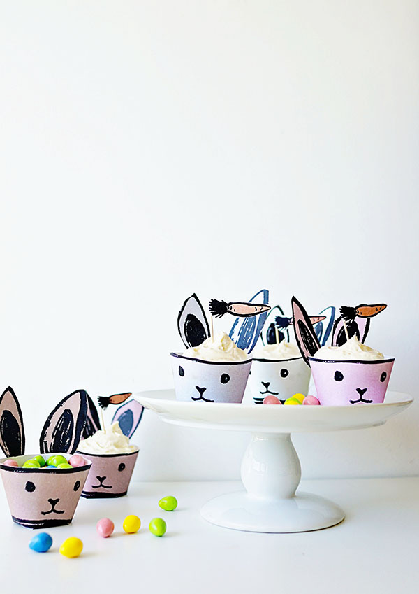 DIY + Recipe: Bunny Cupcake Holders for Oh Happy Day  /  www.goodonpaperdesign.com/blog/2016/3/8/diy-recipe-bunny  /  @good_on_paper @ohhappyday