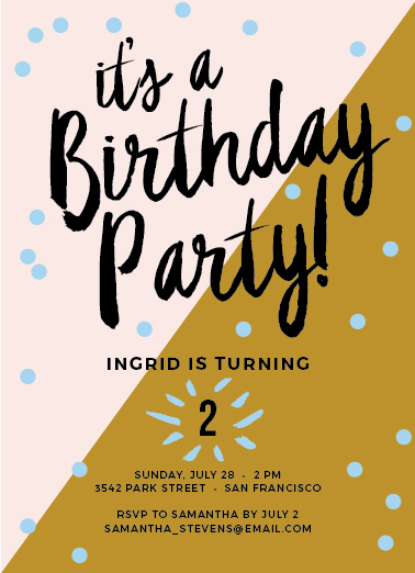 Ready Made Party Invitations are Here  /  www.goodonpaperdesign.com/blog/ready-made-party-invitations-are-here  /  @good_on_paper