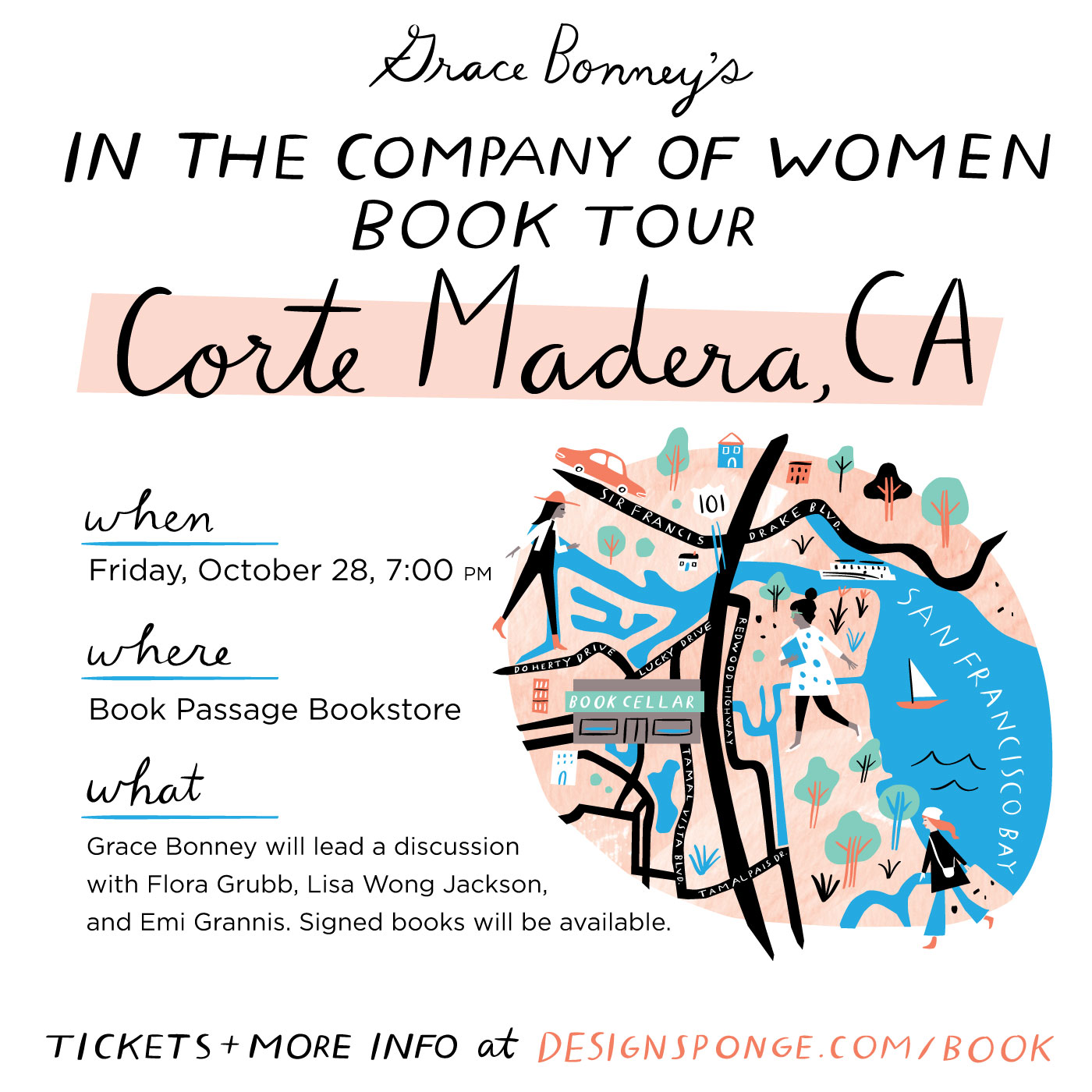In the Company of Women Book Tour: Corte Madera, CA  /  www.goodonpaperdesign.com/blog/2016/9/18/in-the-company-of-women-book-tour-corte-madera-ca  /  @good_on_paper