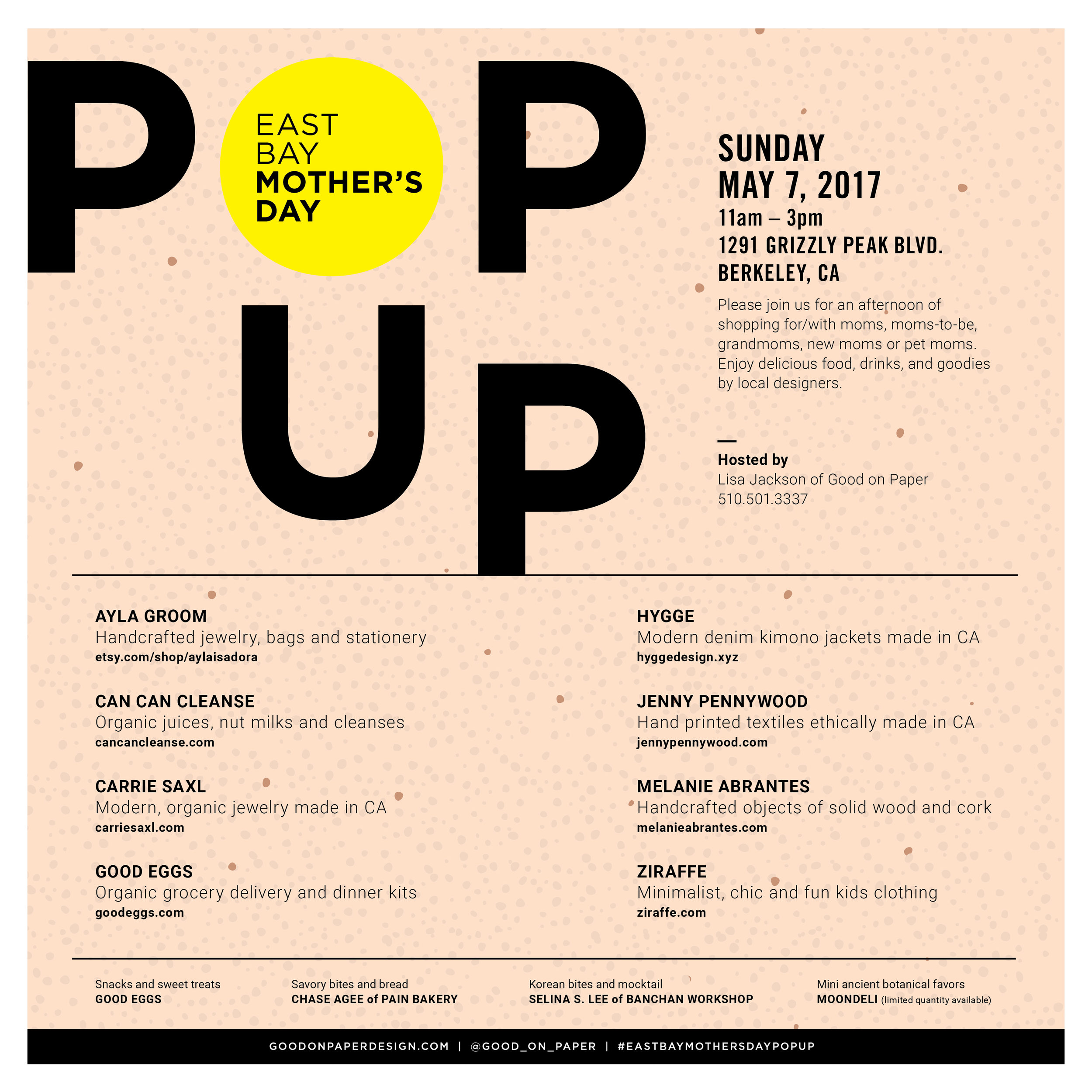 East Bay Mother's Day Pop Up  /  www.goodonpaperdesign.com/blog/2017/4/15/east-bay-mothers-day-pop-up  /  @good_on_paper