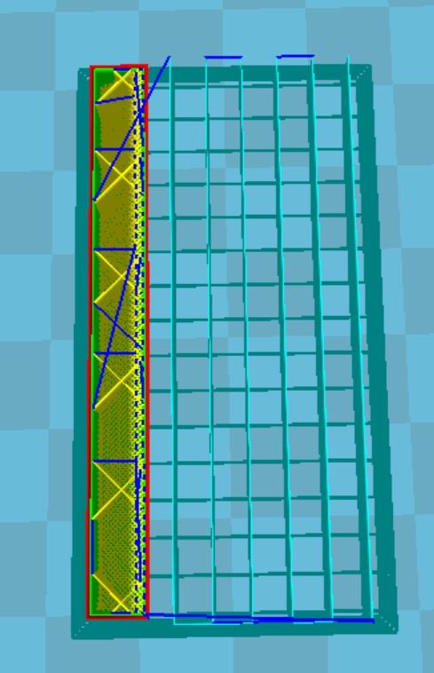 CURA設定密度10%時的樣子。