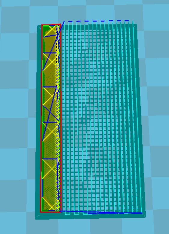 CURA設定密度30%時的樣子。