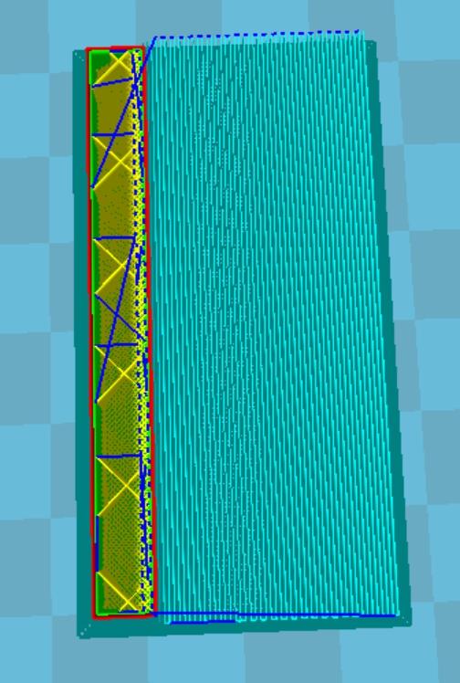 CURA設定密度80%時的樣子。
