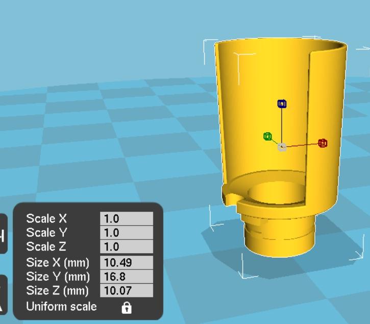 從圖形的尺寸可以了解到這個圖有多麼的細小和精準,這樣的結構不只考驗繪圖的功力也考驗印表機的品質。