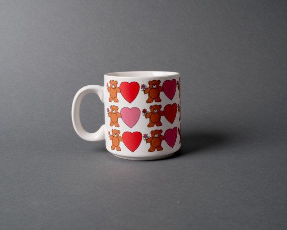 Heart of it All Vintage Sweet Little Teddy Bear Coffee Mug