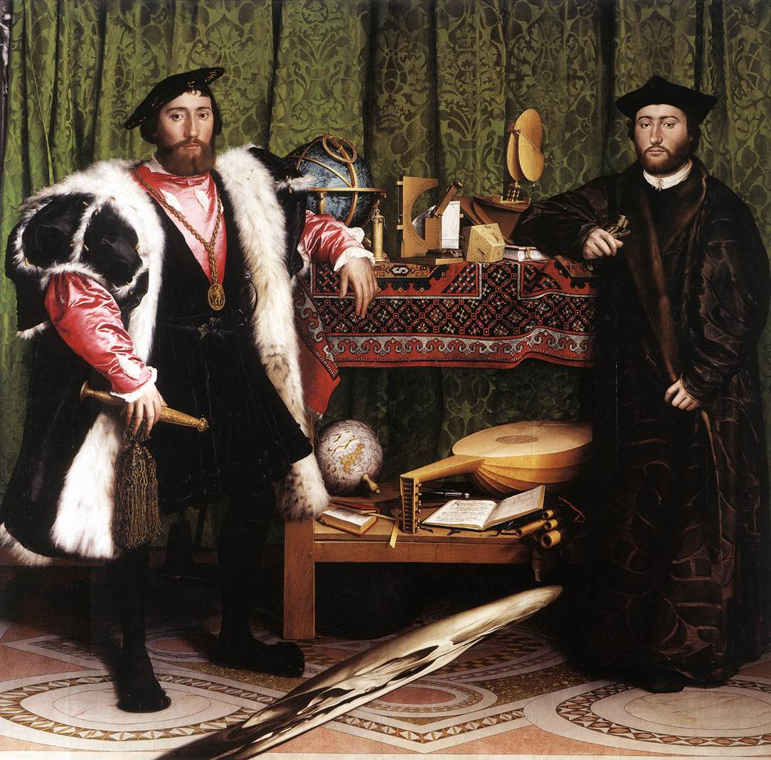 The Ambassadors Hans Holbein the Younger (1497 – 1543) National Gallery, London Oil on Oak, (207cm x 209.5cm) c. 1513 - 1515