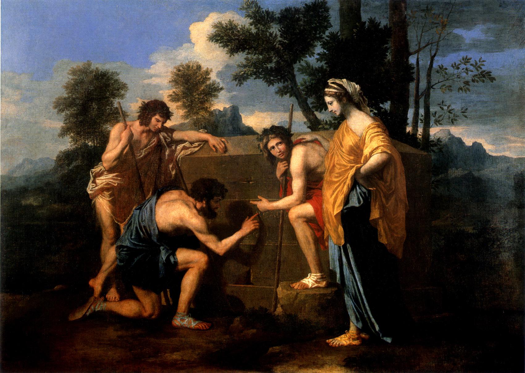 Les Bergers d'Arcadie (Et in Arcadia ego) Nicolas Poussin (1594 – 1665) Louvre Museum, Paris Oil on Canvas, (87cm x 120cm) 1637-1638