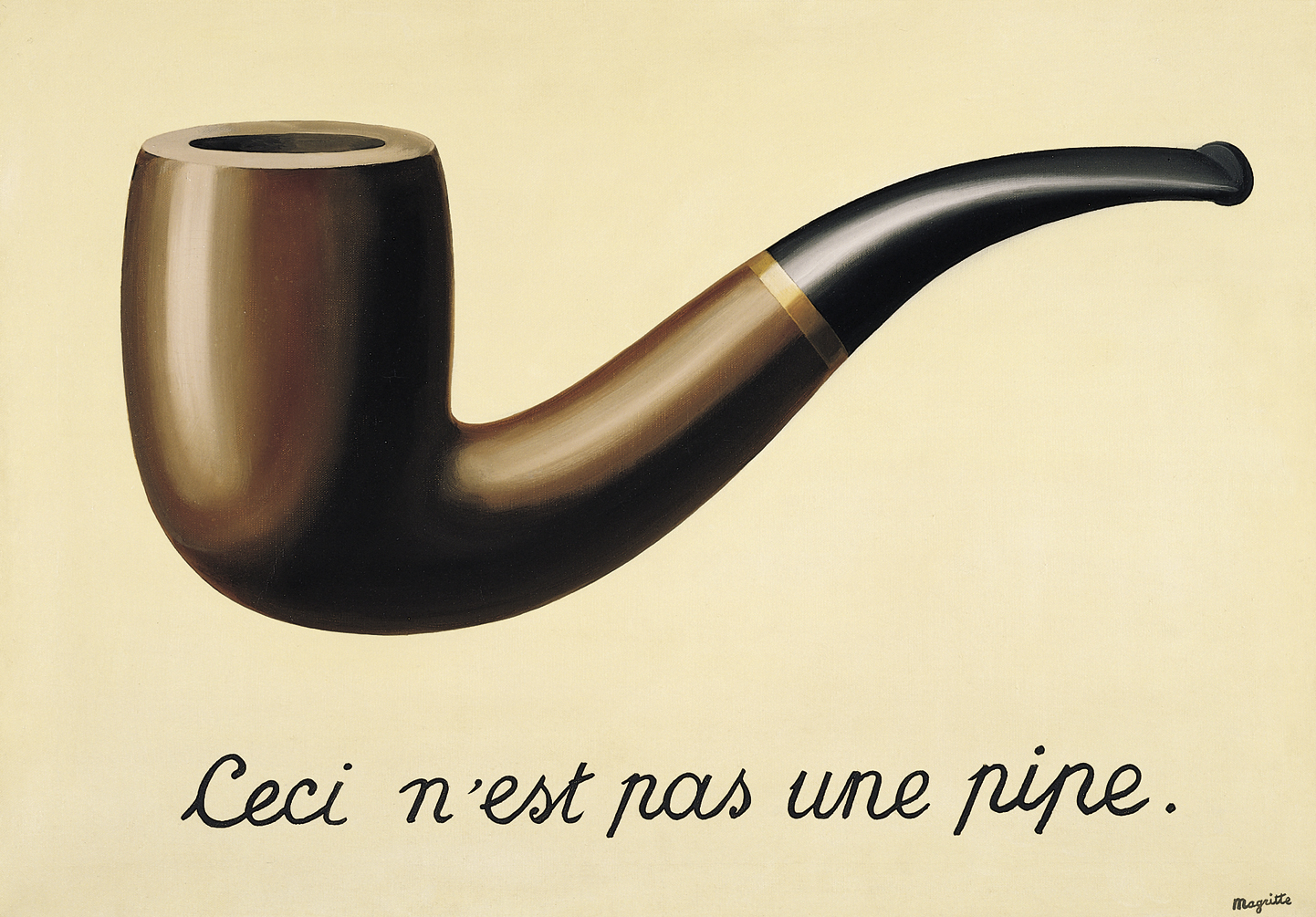 The Treachery of Images René Magritte (1889 – 1967) Los Angeles County Museum of Art Oil on canvas, (63.5cm × 93.98cm) 1928–29
