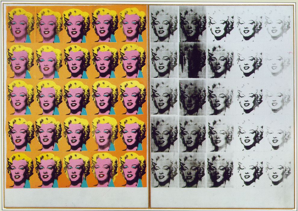 Marilyn Diptych Andy Warhol (1928 – 1987) The Tate Gallery, London Acrylic on canvas, (205cm × 289cm) 1962