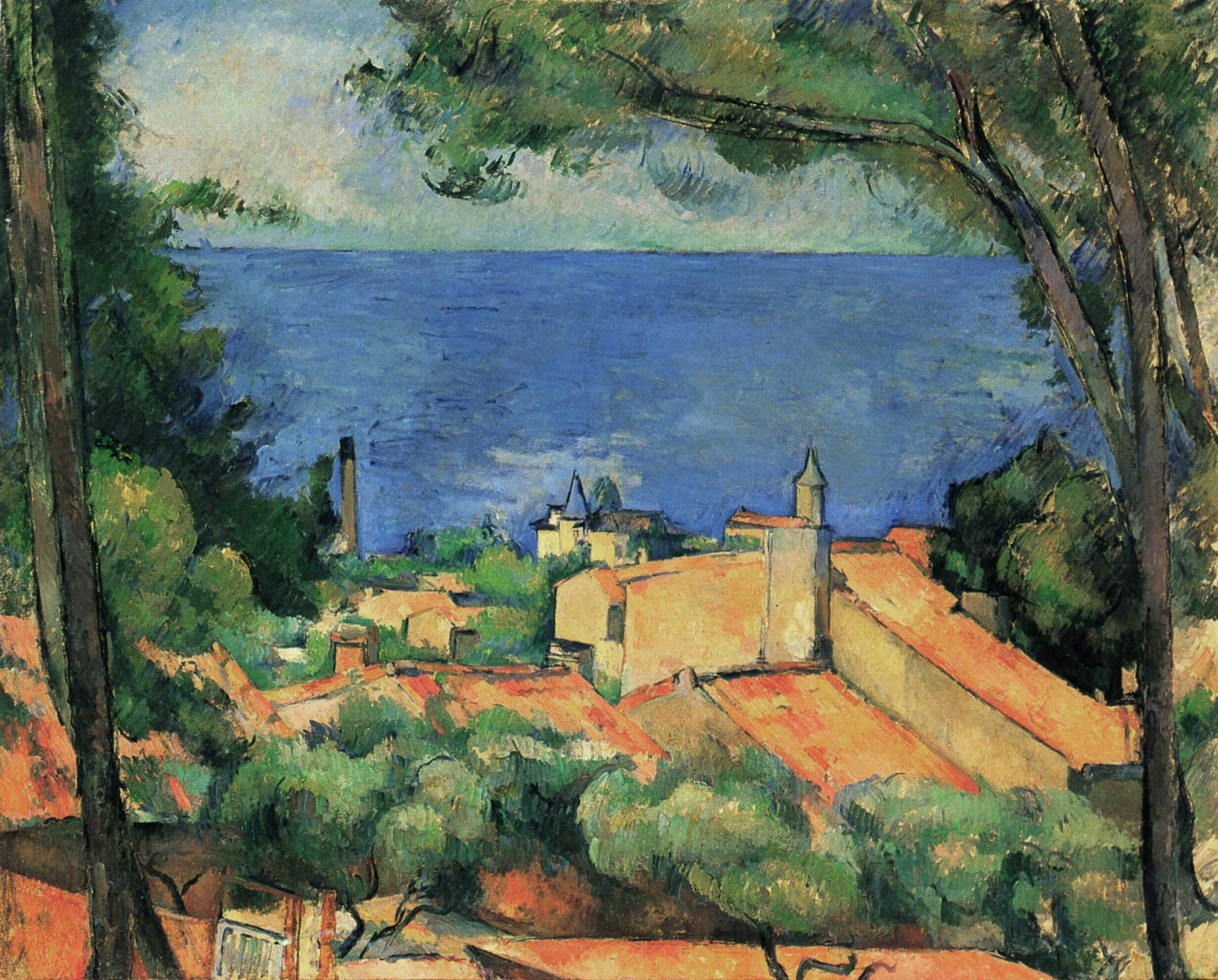 Paul Cézanne,  L'Estaque , 1883–1885, Private Collection.