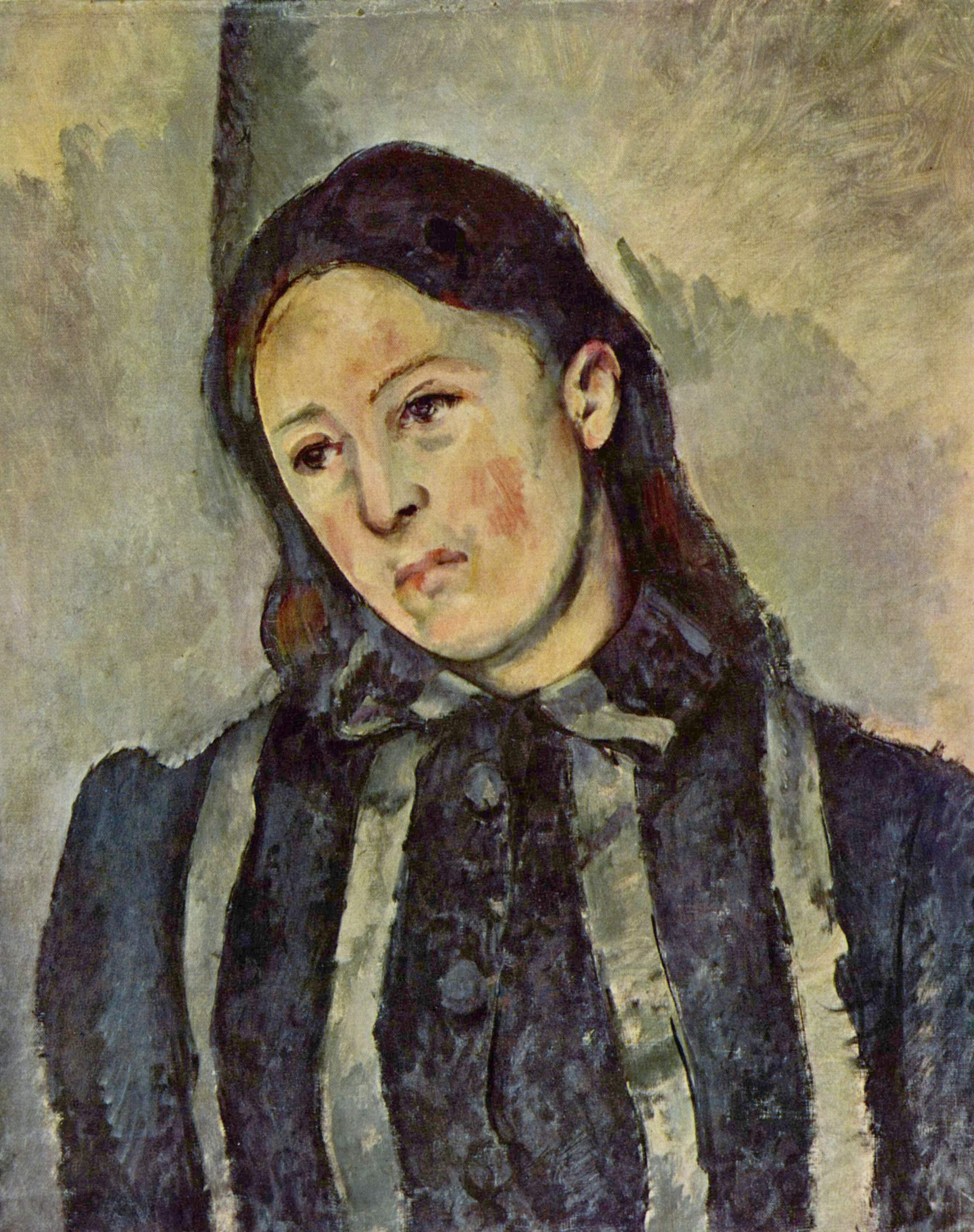 Paul Cézanne,  Portrait of Madame Cézanne with Loosened Hair , 1883-1887, Philadelphia Museum of Art.