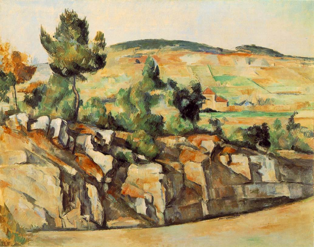 Paul Cézanne,  Montagnes en Provence (Mountains in Provence) , 1886-90, National Gallery, London.