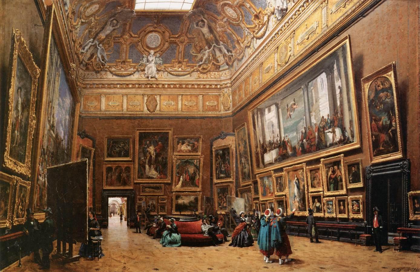 Giuseppe Castiglione, View of the Grand Salon Carré in the Louvre , 1861. Louvre, Paris.