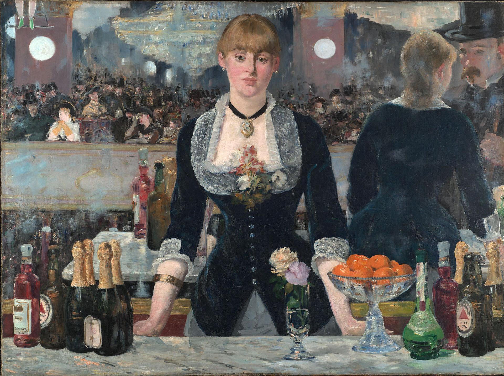 Édouard Manet,  A Bar at the Folies-Bergère (Un Bar aux Folies-Bergère) , 1882, Courtauld Institute of Art.
