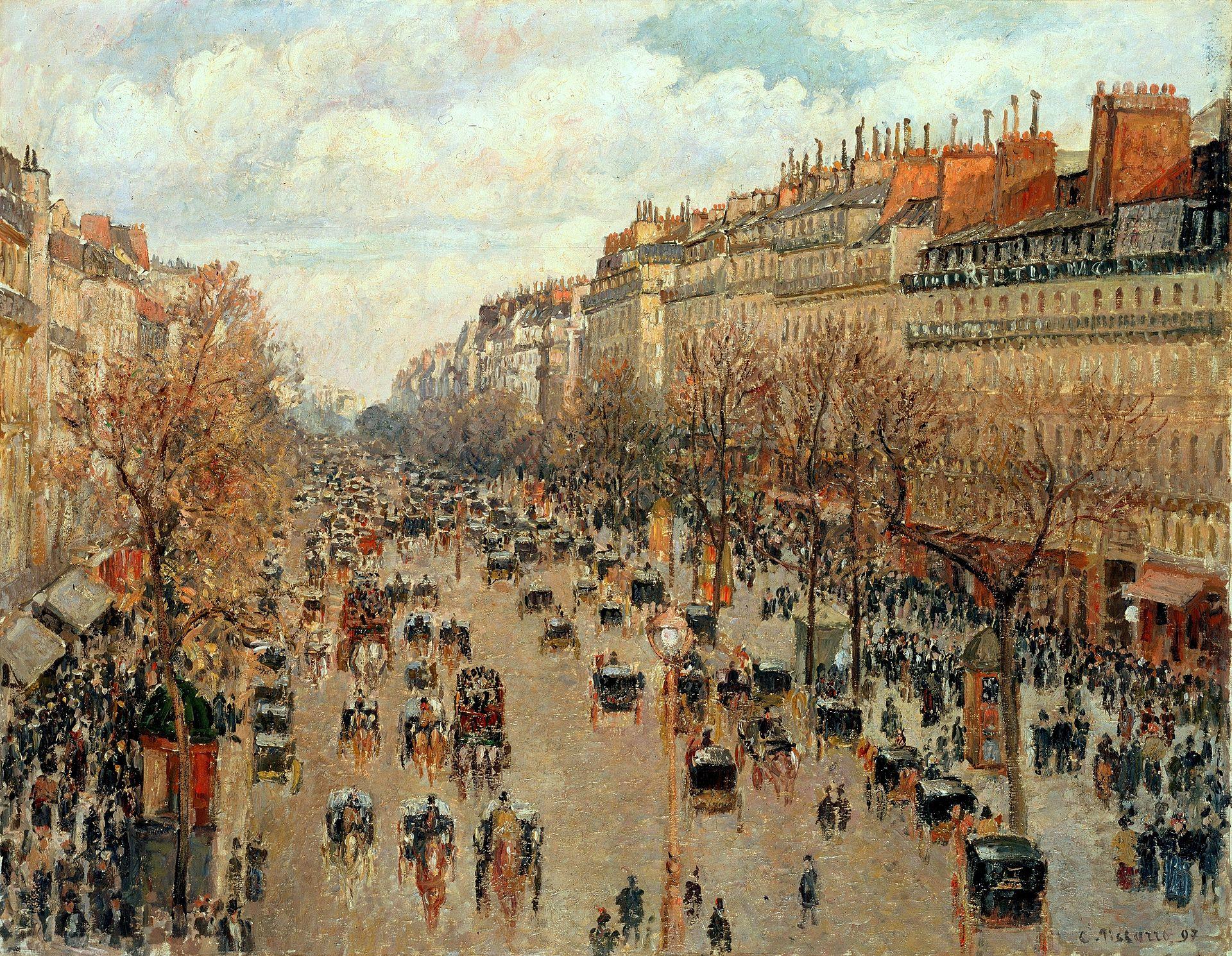 Camille Pissarro,  Boulevard Montmartre , 1897, the Hermitage, Saint Petersburg.